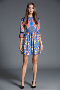 Comino Couture Navy Flamingo Dress *WAS £125*