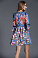 Load image into Gallery viewer, Comino Couture Navy Flamingo Dress *WAS £125*