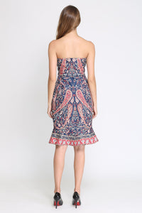 Comino Couture Boob Tube Peplum bottom Dress *WAS £150*