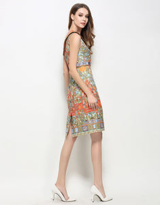 Comino Couture Asymmetric Print Dress *WAS £150*