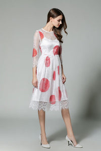 Comino Couture Dotty Madness Lace Dress  *WAS £95*