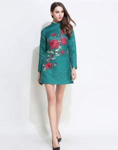 Comino Couture Green Oriental Rose Dress *WAS £150*