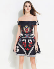 Load image into Gallery viewer, Black Vintage Bardot Dress *WAS £160*