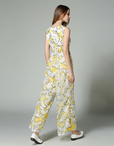 "Comino Couture ""Super Cube"" Floral Print Sleeveless Wide Leg Jumpsuit  *WAS £80*"
