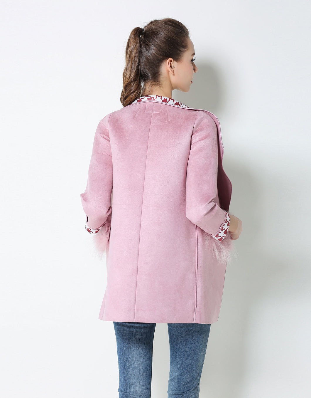 Comino Couture Pink Faux Fur Pocket Coat *WAS £95*