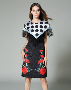 "Comino Couture ""Poker"" Cape Dress *WAS £90*"