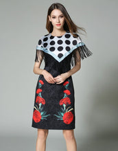 "Load image into Gallery viewer, Comino Couture ""Poker"" Cape Dress *WAS £90*"