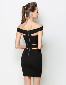 Comino Couture Black Bandage Dress