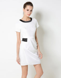Comino Couture White Lace Paneled Mini Dress *WAS £75*
