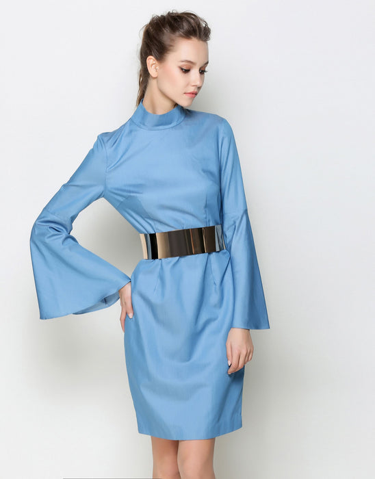 "Comino Couture Blue ""Belt it up"" dress *WAS £170*"
