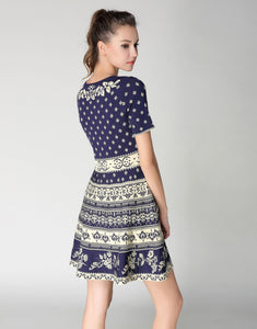 Comino Couture Knitted Blue Skater Dress *WAS £140*