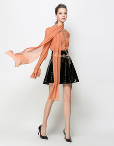 "Comino Couture ""Orange is the New Black"" Tie Shirt dress *WAS £165*"