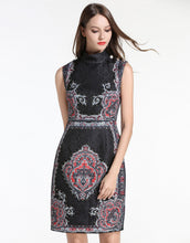 Load image into Gallery viewer, Comino Couture Black Midi Vintage Beaded Dress *WAS £150*