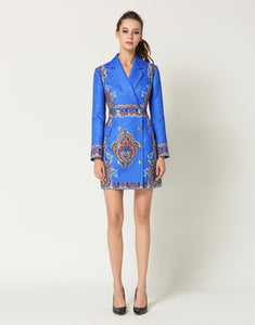 Electric Blue Blazer Dress