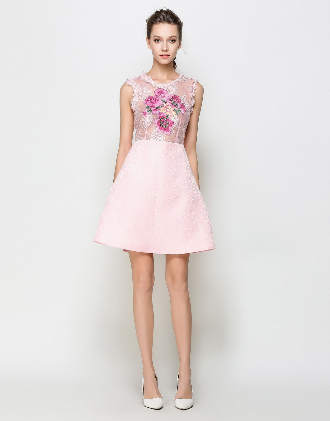 Comino Couture Pink Heavy Embroidered Dress *WAS £155*