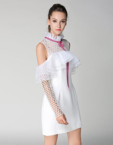 Comino Couture White Cold Shoulder Dress *WAS £155*