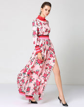 "Load image into Gallery viewer, ""Let's Split"" Floral Print Maxi Dress"