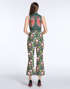 Comino Couture Green / Multi Print Flamingo Jumpsuit *WAS £145*