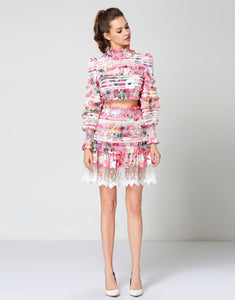 "Comino Couture ""Pink Puff"" two-piece set"