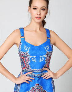 Comino Couture Electric Blue Buckled Strap Dress *WAS £160*