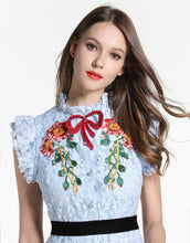 Load image into Gallery viewer, Comino Couture Blue Cotton Candy Dress *WAS £145*