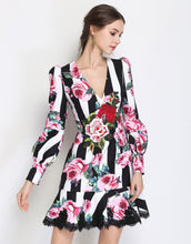 Load image into Gallery viewer, Striped Rose Dress *WAS £200*