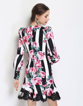 Load image into Gallery viewer, Striped Rose Dress