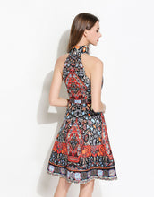 Load image into Gallery viewer, Halter Neck Folk Print Dress *WAS £160*
