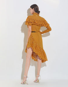 Mustard Polka Dot Two Piece Set *WAS £200*