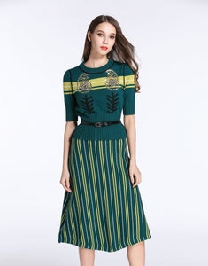 Comino Couture emerald oak knitted two-piece set *WAS £220*