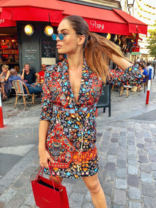 Comino Couture Folk Print Blazer Dress * WAS £160*