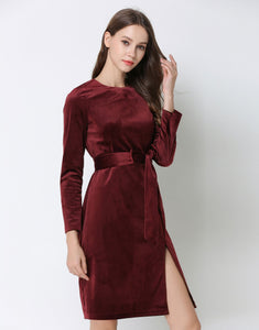 Comino Couture Velvet Berry Dress *WAS £130*