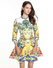 Load image into Gallery viewer, Floral Shower Skater Dress
