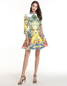 Floral Shower Skater Dress