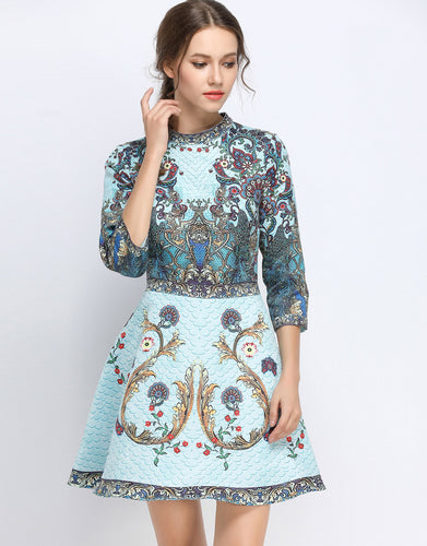 Peacock Skater Dress *WAS £160*