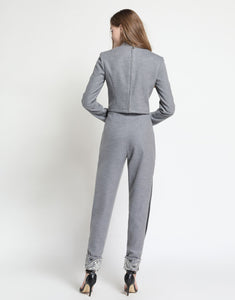 Comino Couture Heavy Embellished Grey Trouser Suit *WAS £250*