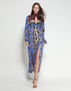 Blue Mosaic Key Hole Dress *WAS £170*