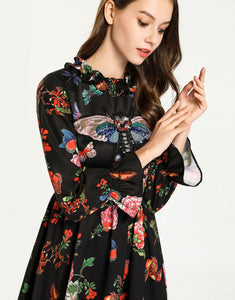 'spread your wings' Butterfly Appliqué Floral Dress *WAS £145*