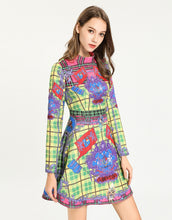 Load image into Gallery viewer, Royal Crest Multi Check Skater Dress *WAS £150*