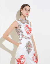 Load image into Gallery viewer, White Mirrored Floral Jumpsuit *WAS £165*