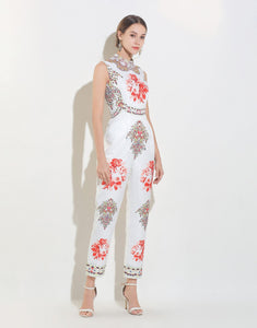 White Mirrored Floral Jumpsuit *WAS £165*