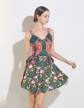 Load image into Gallery viewer, Flamingo Print Tropical Mini Dress