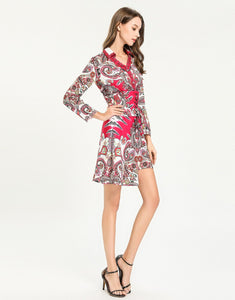 'Paisley for days' hot pink shirt dress with corset belt *WAS £145*