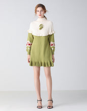 Load image into Gallery viewer, Heart on my sleeve green jumper dress