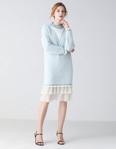 Ice Queen long sleeve jumper dress