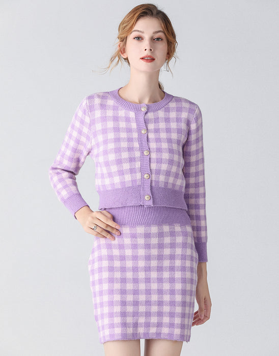 Lavender and Lilac checkmate two piece set
