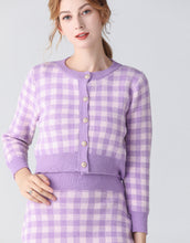Load image into Gallery viewer, Lavender and Lilac checkmate two piece set