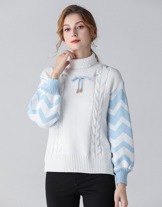 Frozen chevron knitted jumper