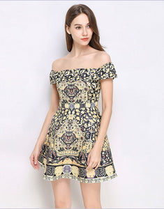 Floral Daze Bardot skater dress