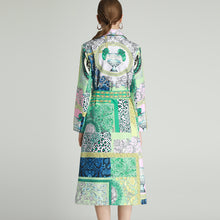 Load image into Gallery viewer, Jade mix print patchwork overcoat